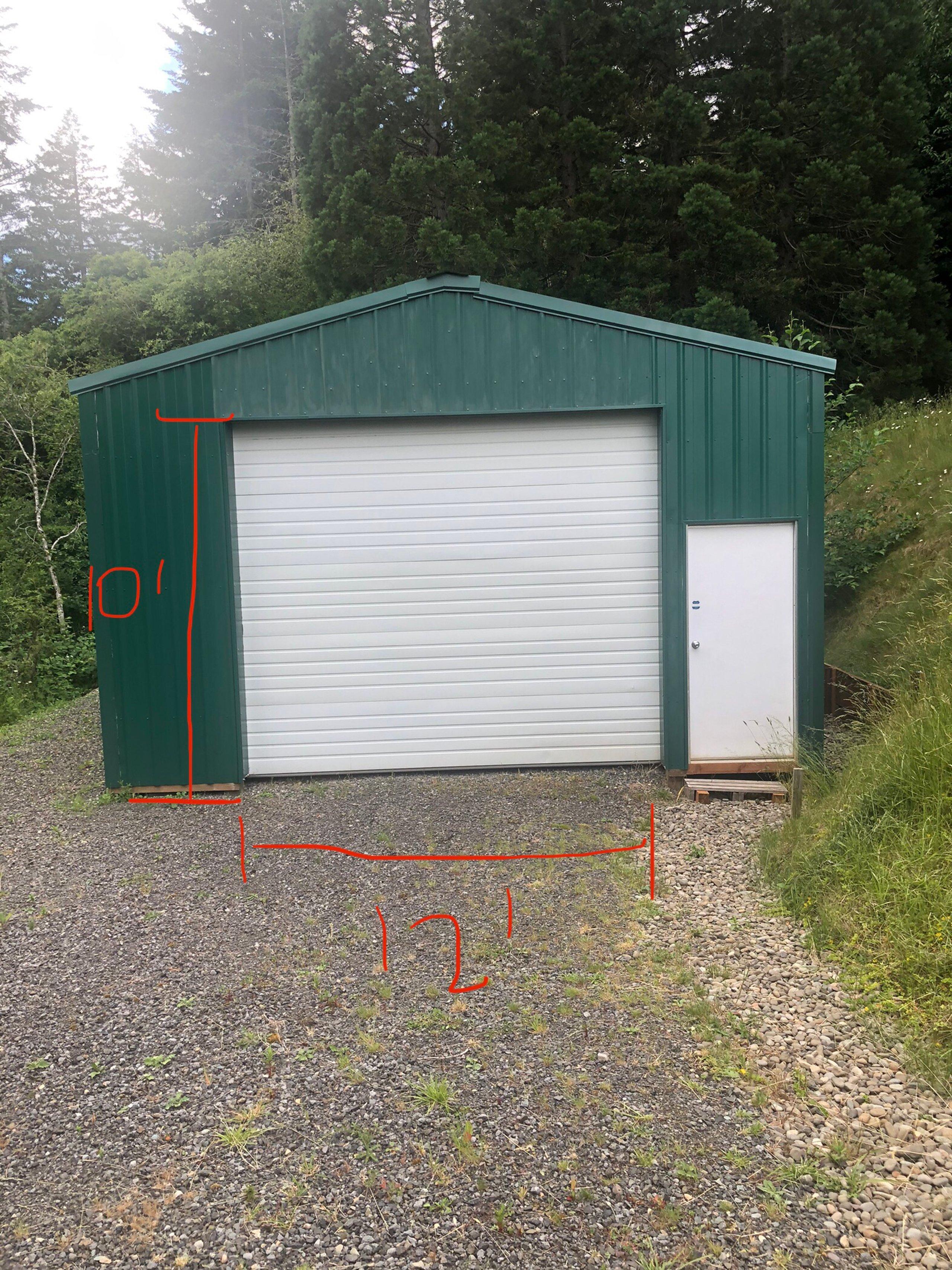 30x19 Garage self storage unit
