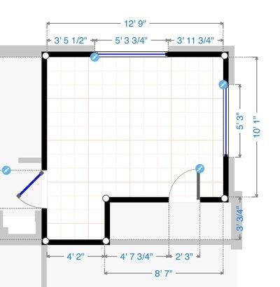 13x13 Bedroom self storage unit
