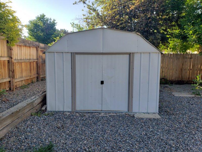 13x10 Shed self storage unit