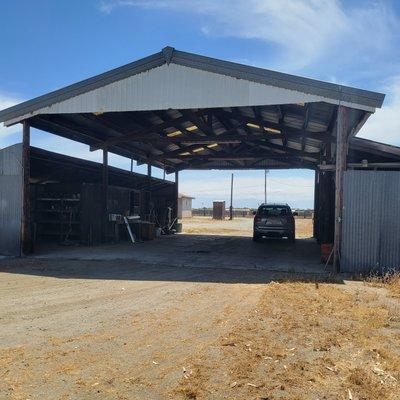 10x25 Carport self storage unit