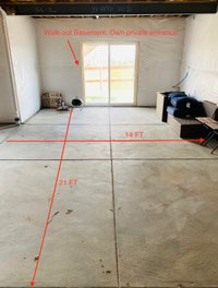21x14 Basement self storage unit