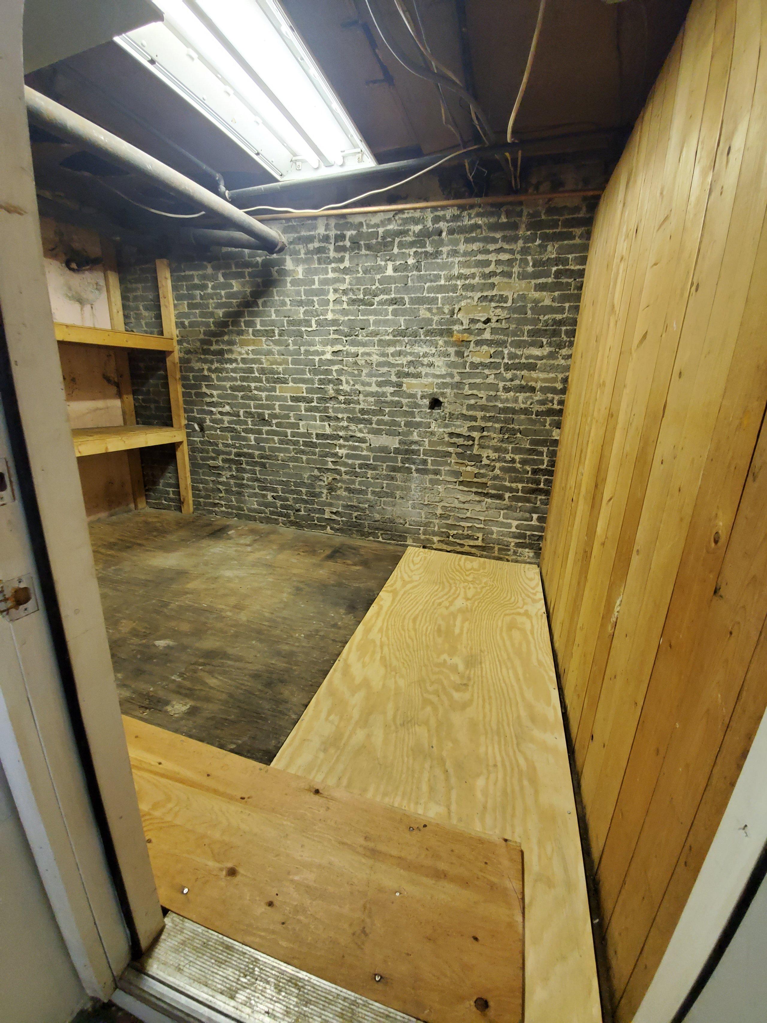9x6 Basement self storage unit