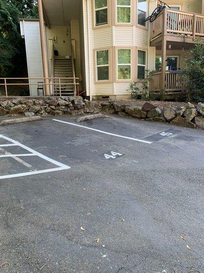 18x16 Parking Lot self storage unit