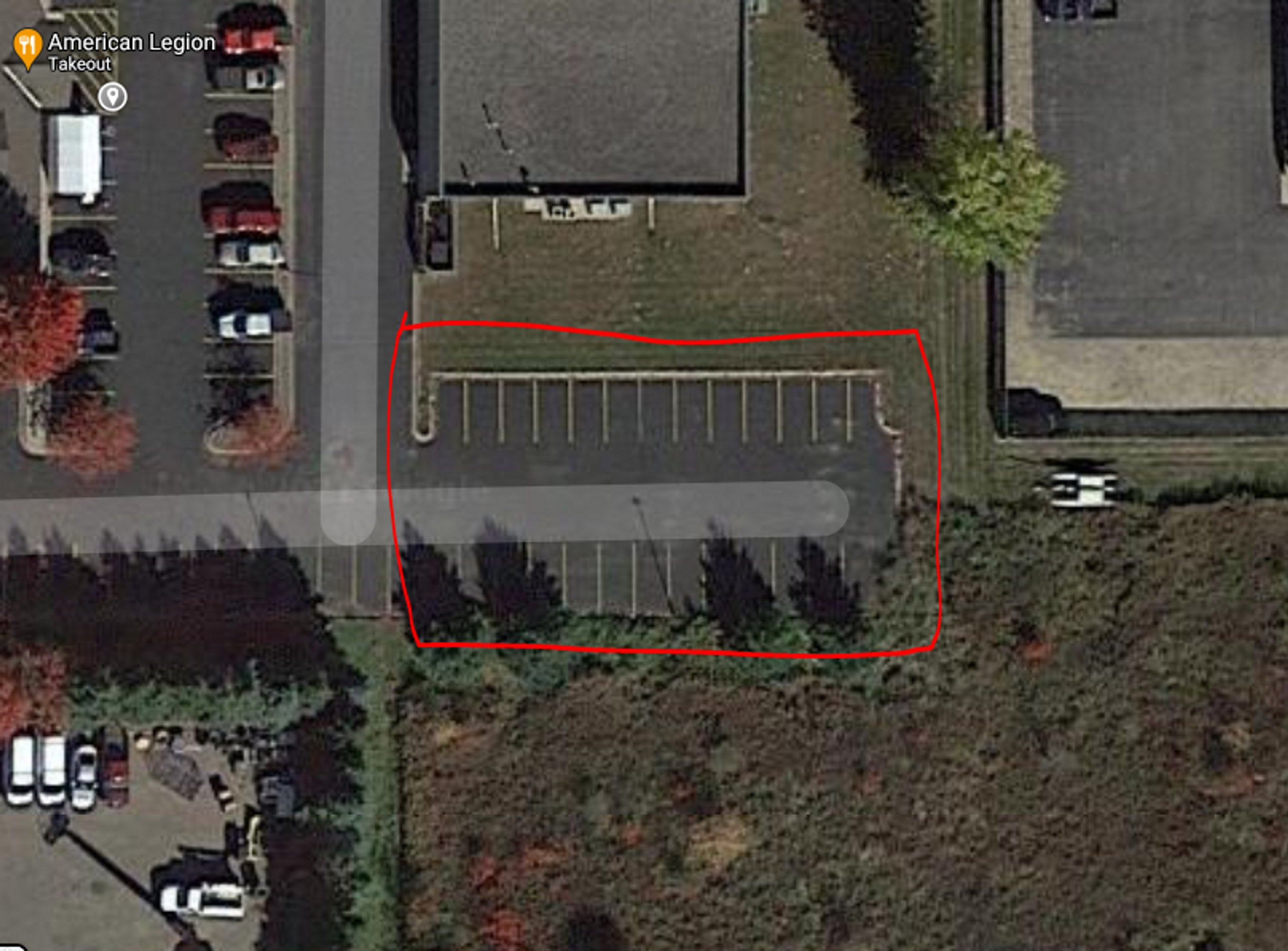 10x20 Parking Lot self storage unit