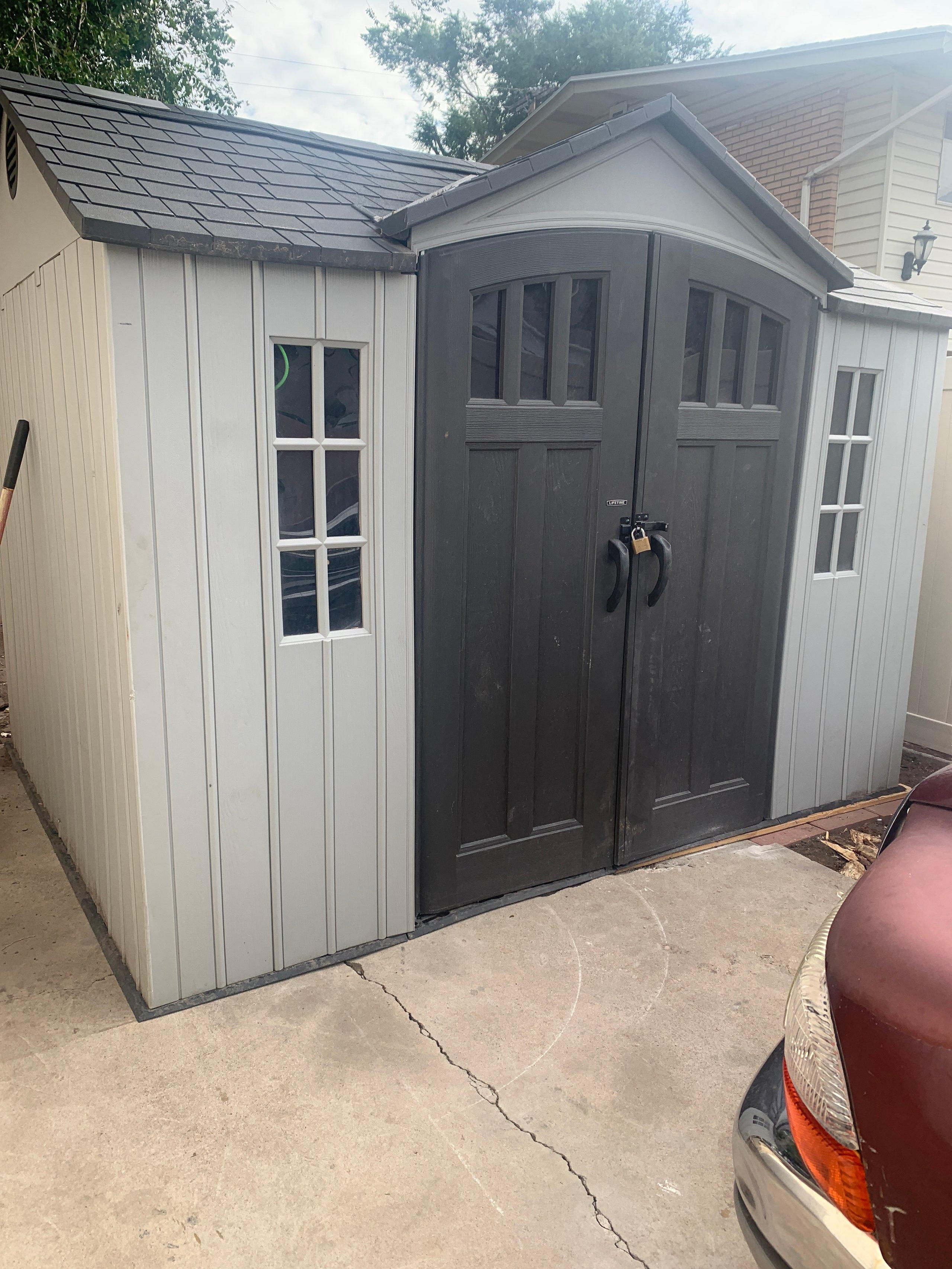 10x8 Shed self storage unit