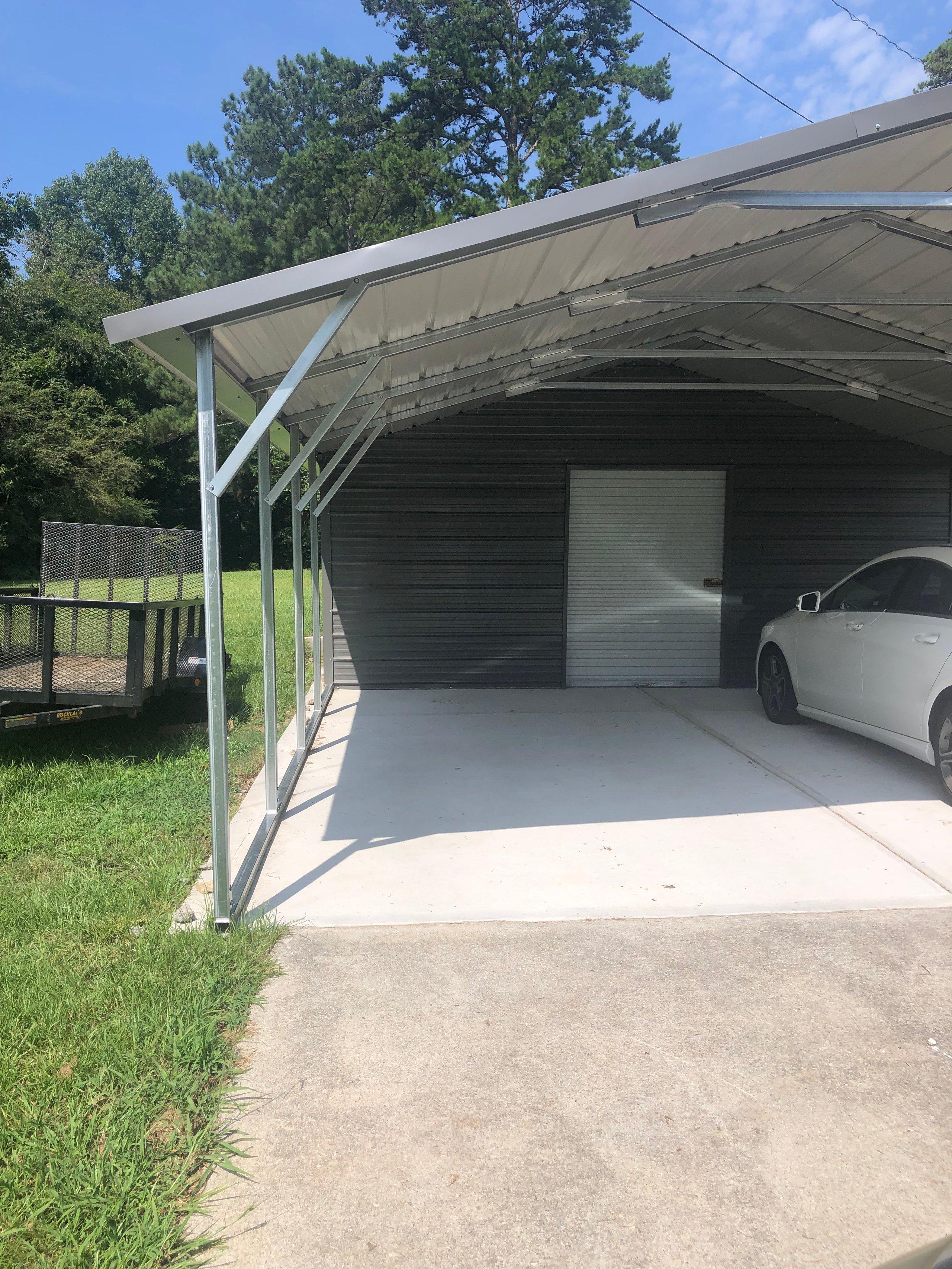 30x10 Carport self storage unit