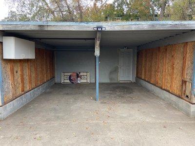 20x9 Carport self storage unit