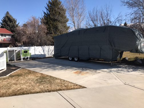 30x10 Driveway self storage unit