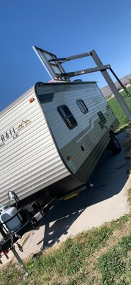 45x10 Driveway self storage unit