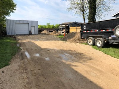 100x70 Unpaved Lot self storage unit