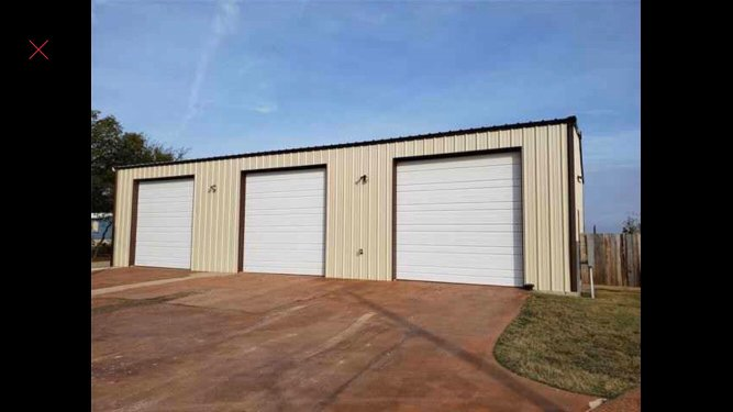40x20 Warehouse self storage unit