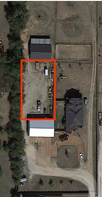 150x70 Unpaved Lot self storage unit