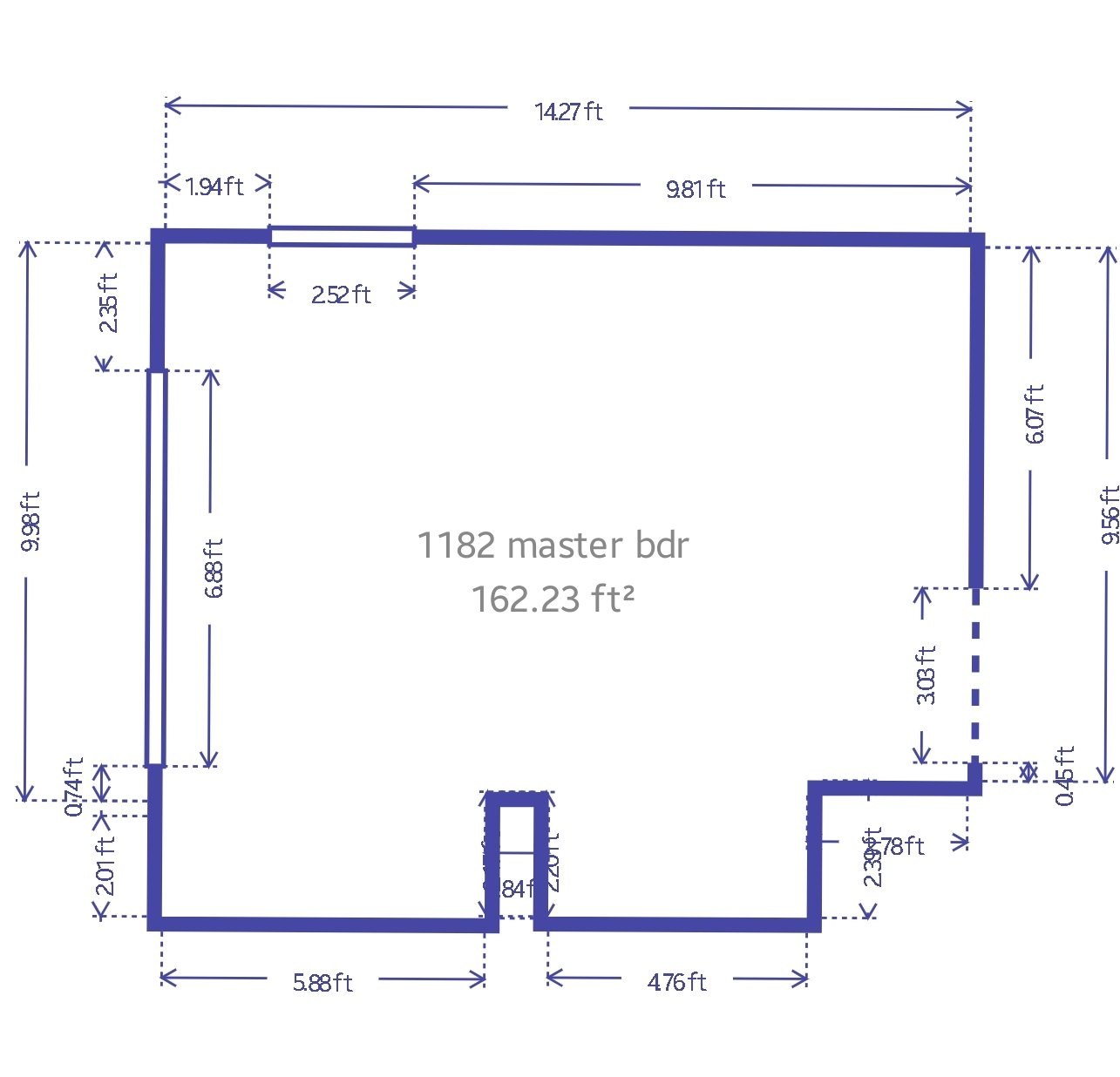 14x9 Bedroom self storage unit