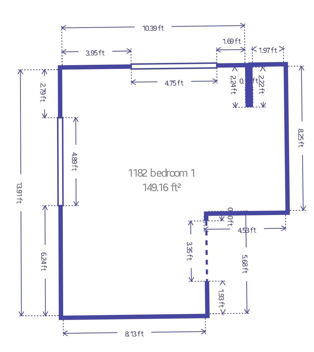 13x10 Bedroom self storage unit
