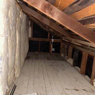 5x8 Attic self storage unit
