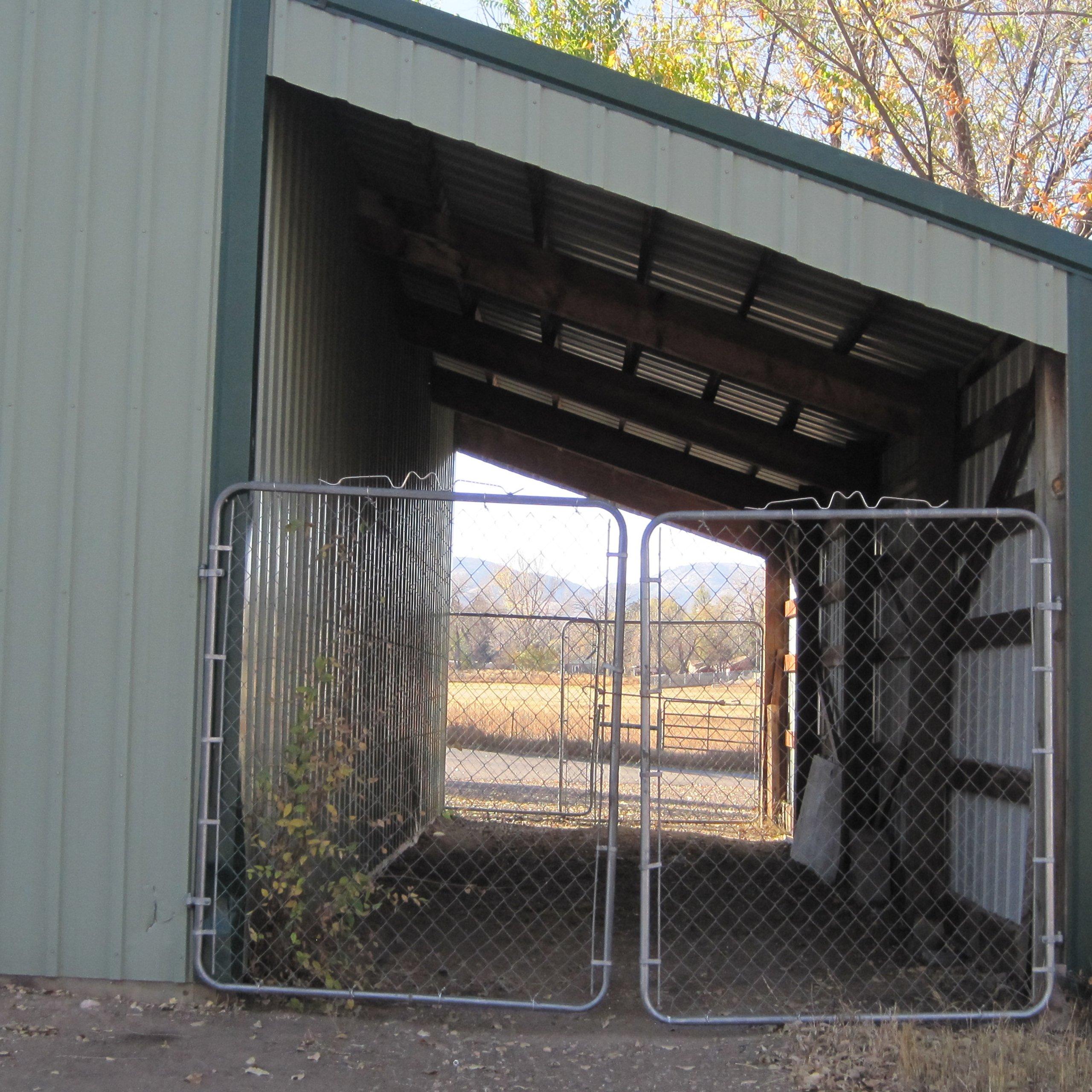 36x9 Carport self storage unit