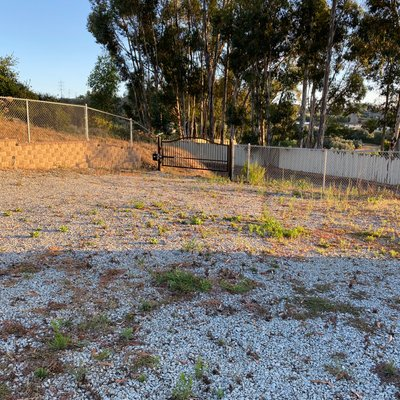 10x10 Unpaved Lot self storage unit