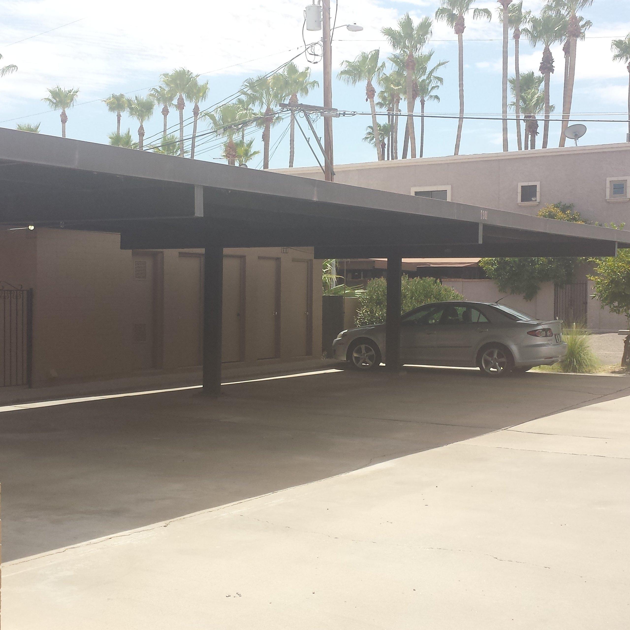 25x8 Carport self storage unit