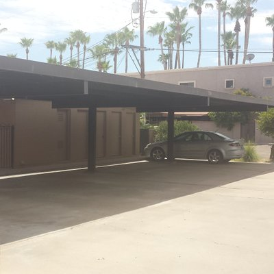 25x8 Carport self storage unit