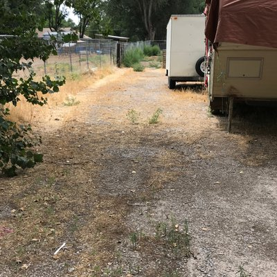 60x30 Unpaved Lot self storage unit