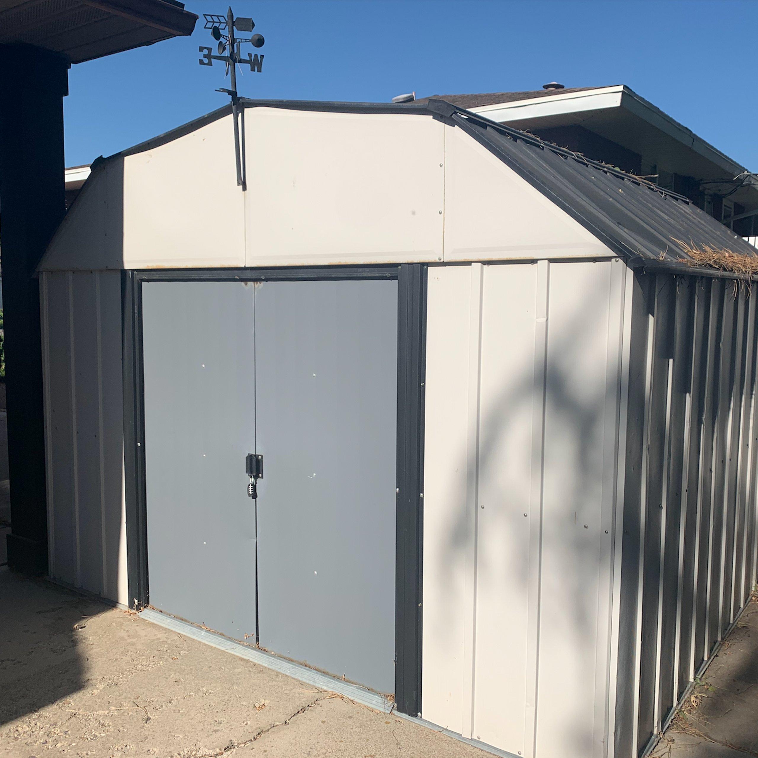 9x10 Shed self storage unit