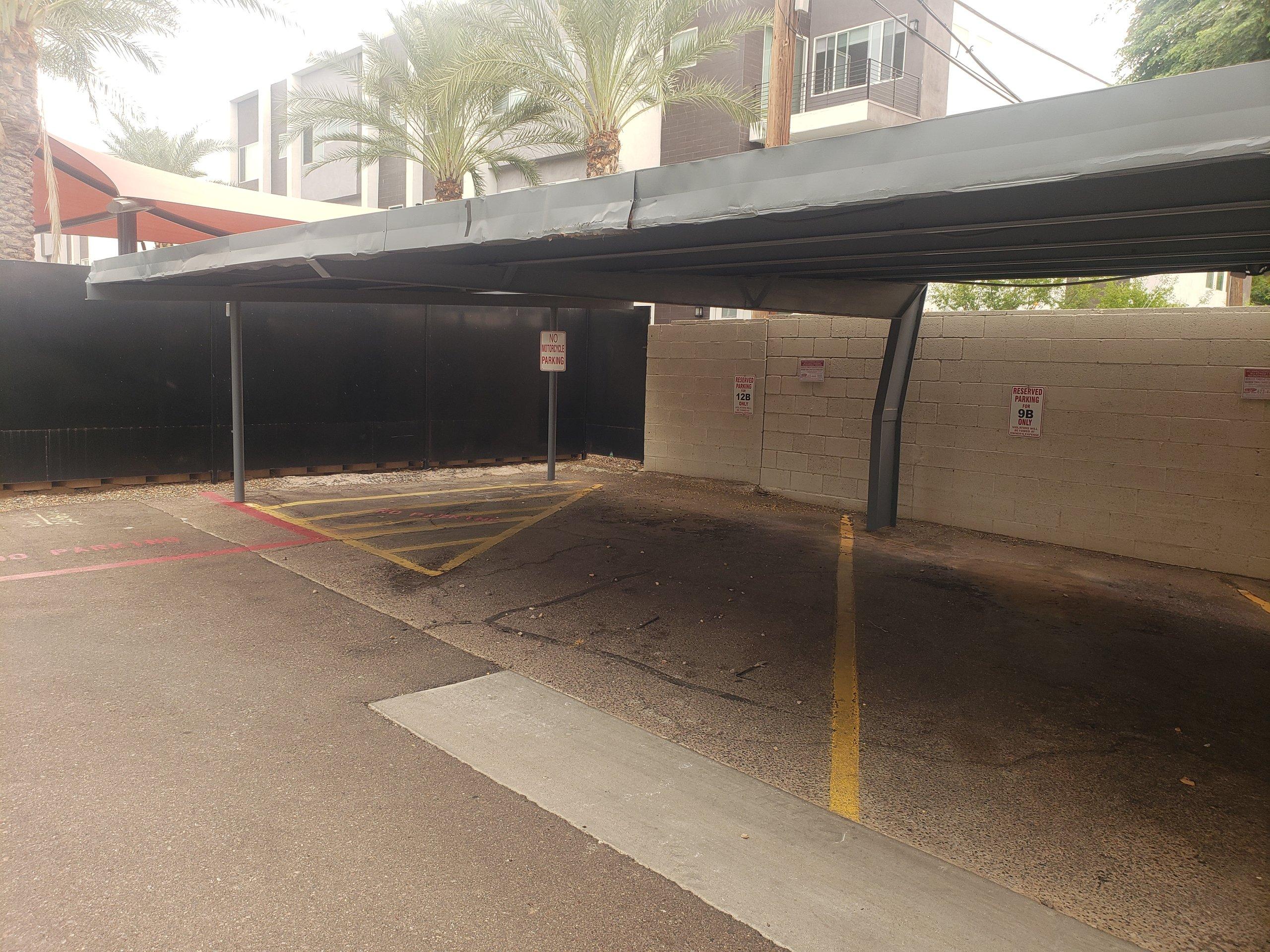 12x6 Carport self storage unit