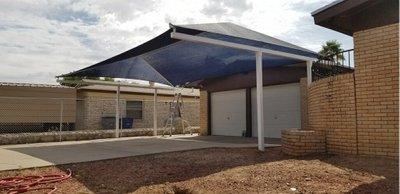 25x10 Carport self storage unit
