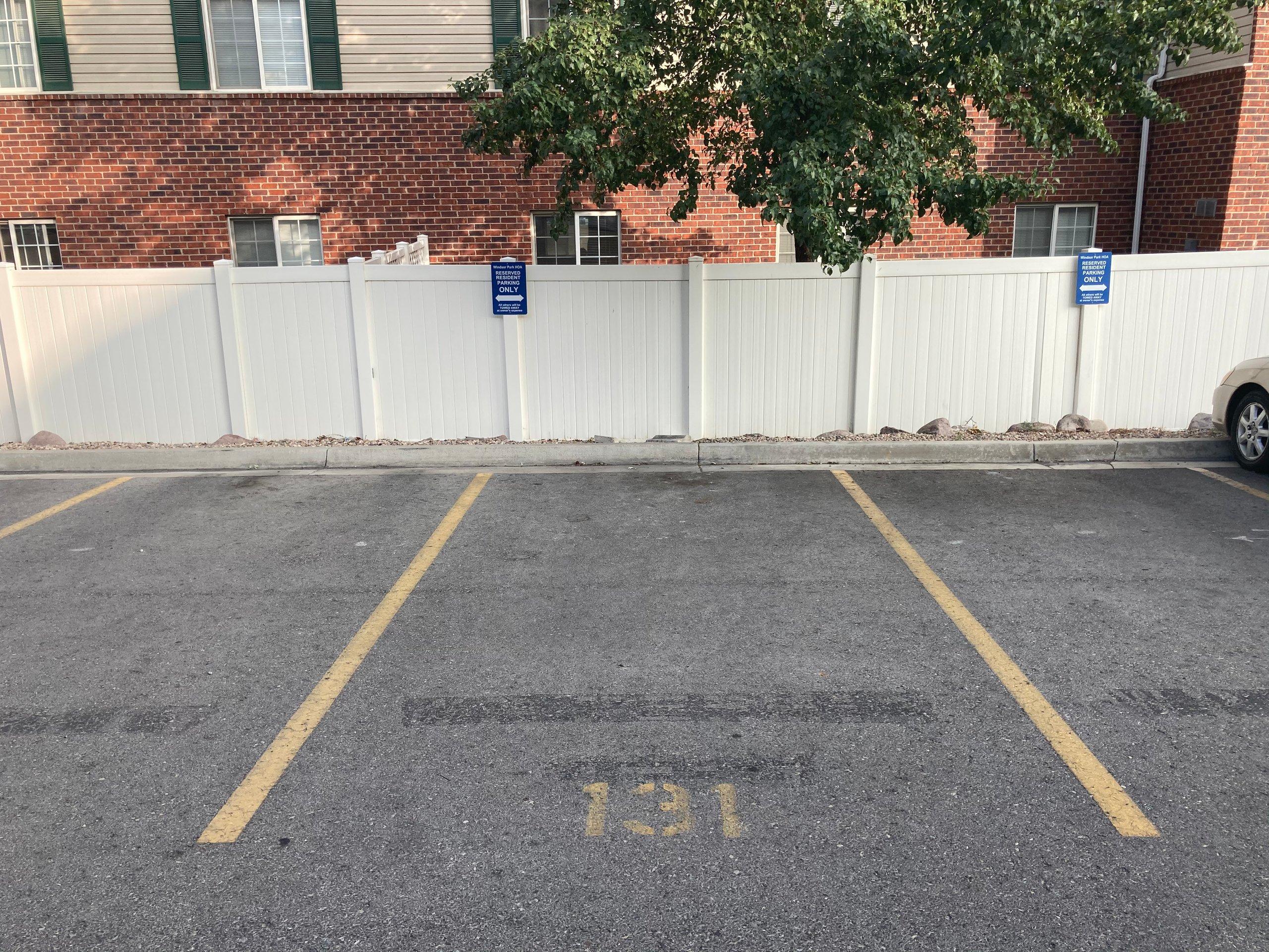 18x9 Parking Lot self storage unit