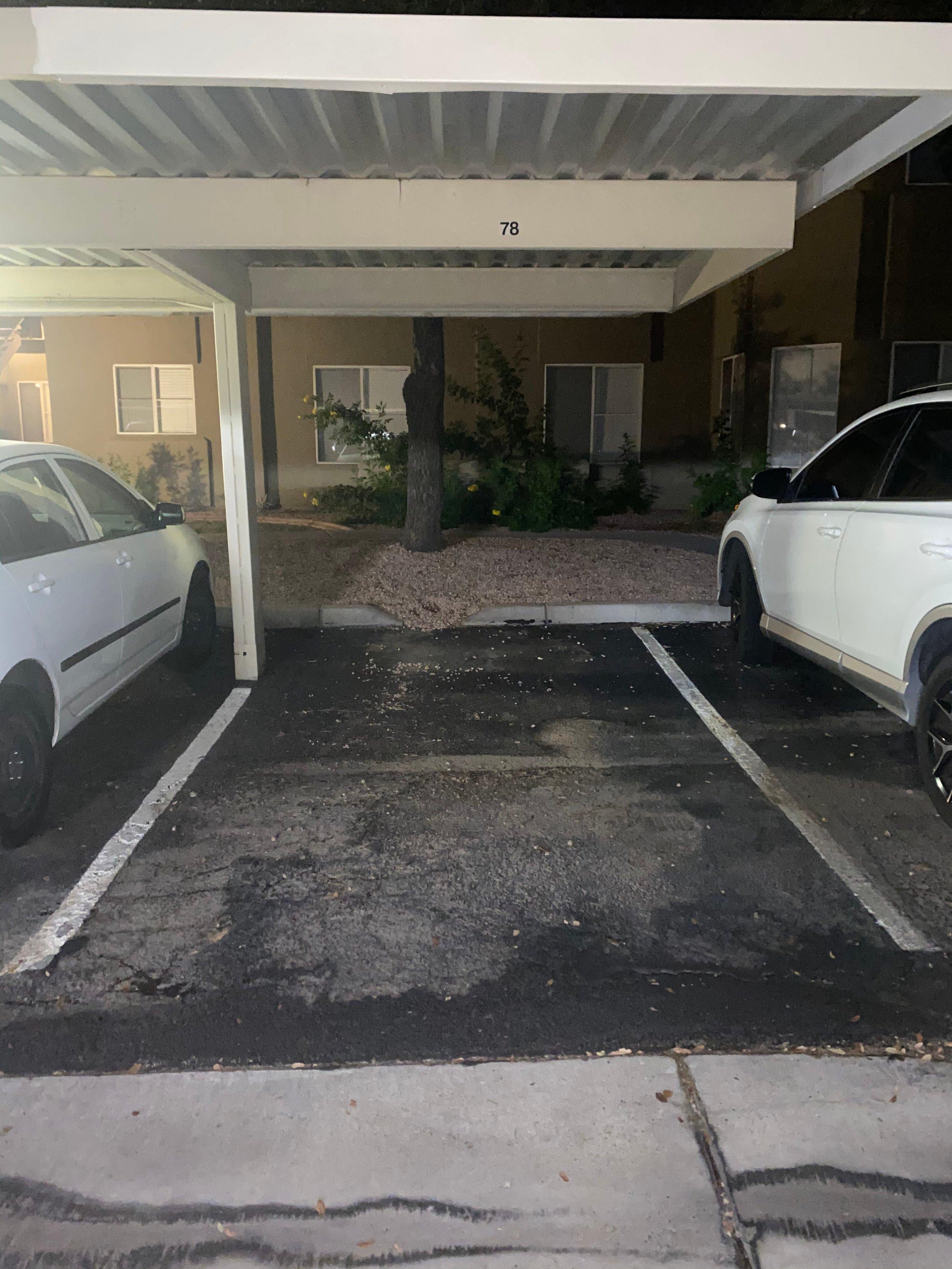 15x8 Parking Lot self storage unit