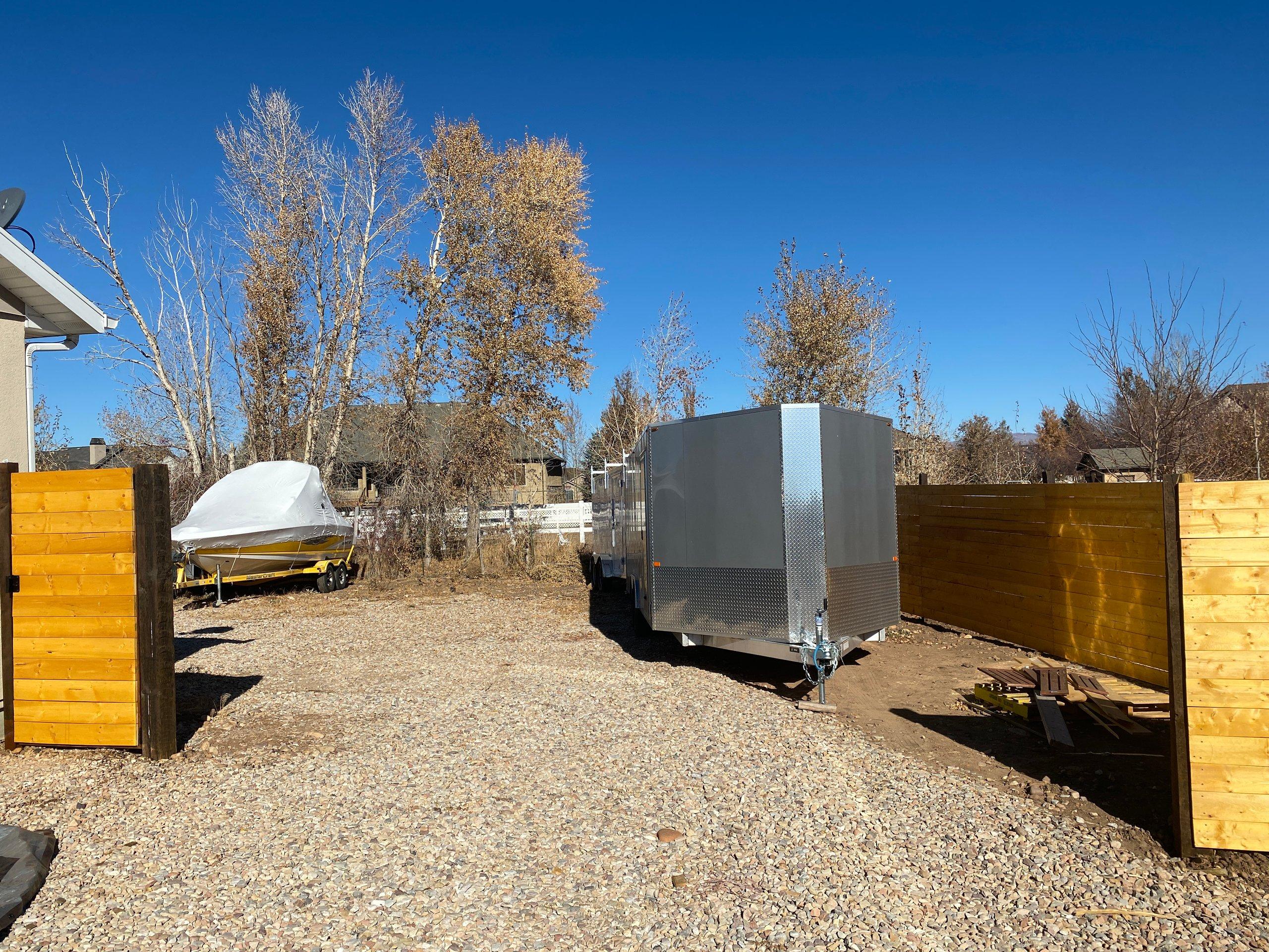 20x60 Unpaved Lot self storage unit