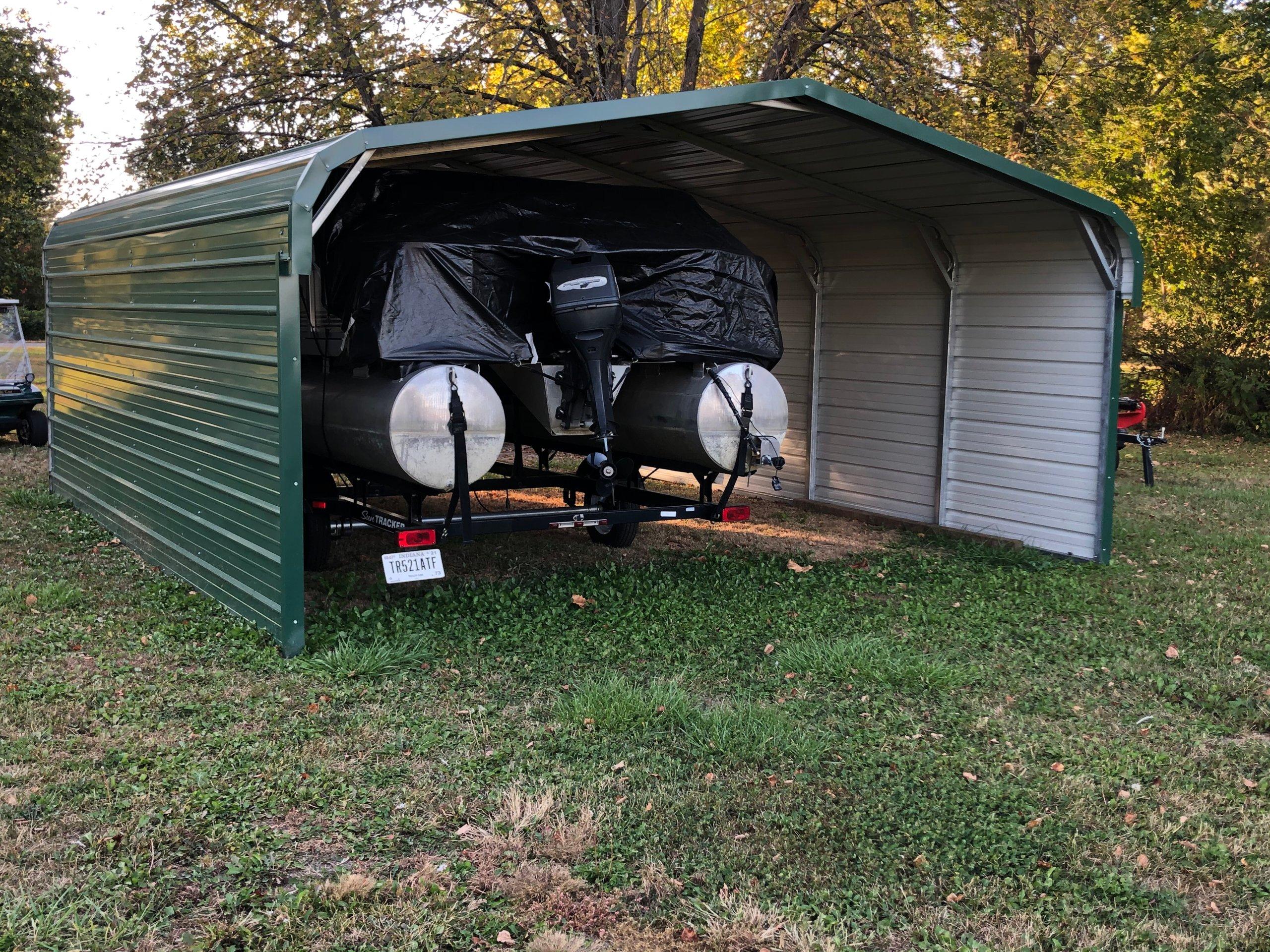 20x17 Carport self storage unit