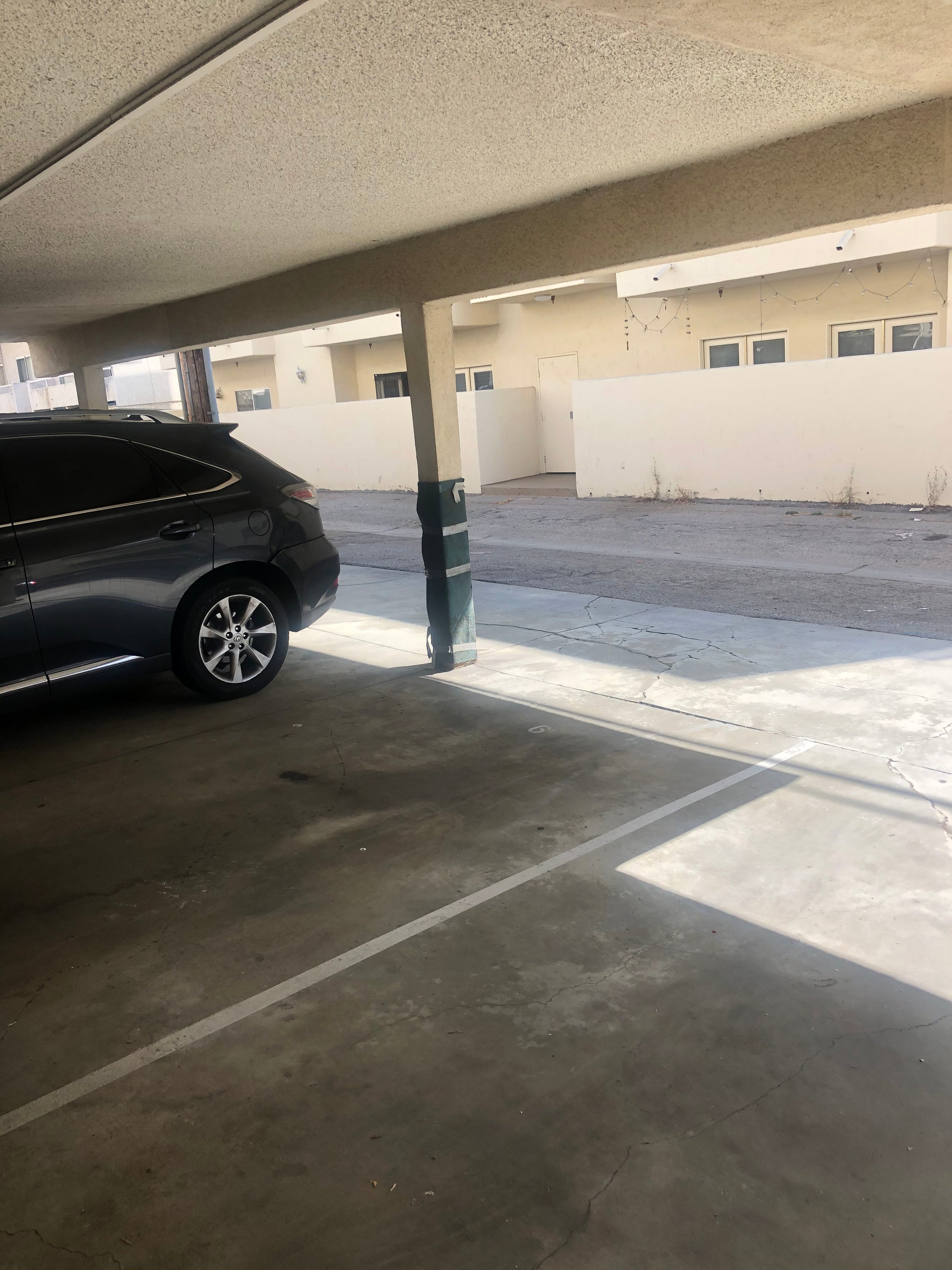 19x8 Parking Lot self storage unit