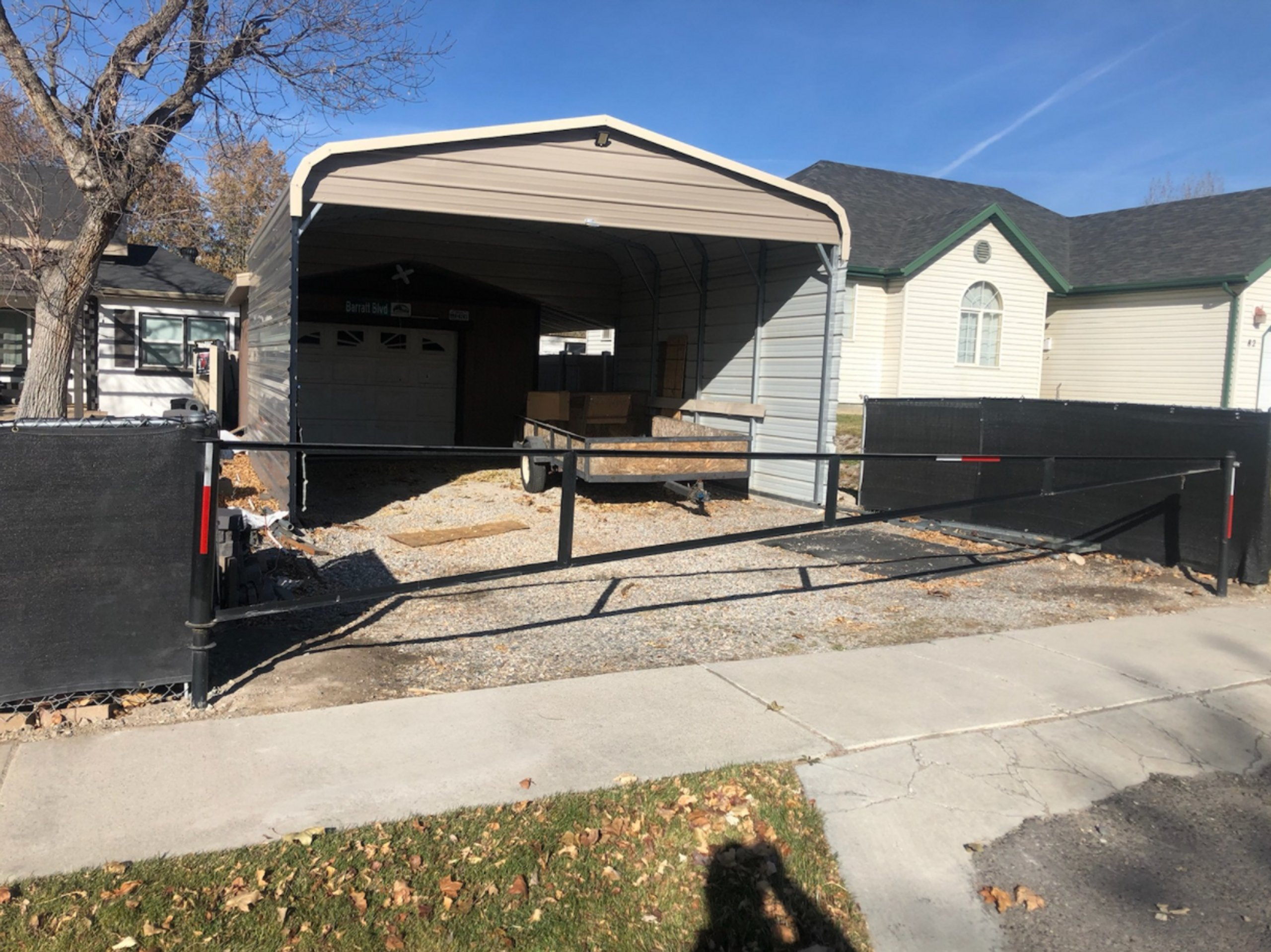 45x18 Carport self storage unit