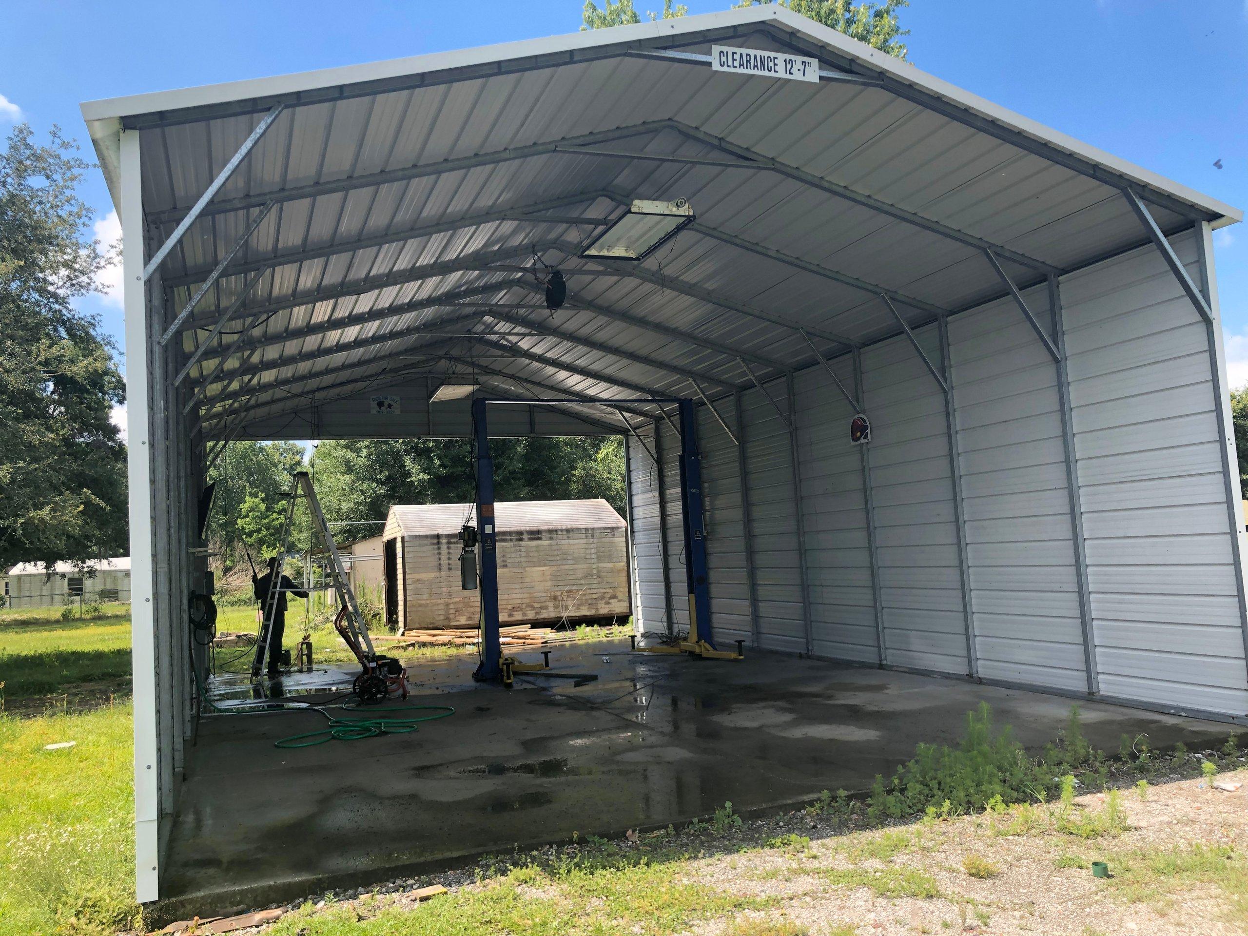 24x32 Carport self storage unit