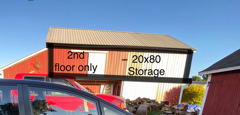 20x80 Shed self storage unit