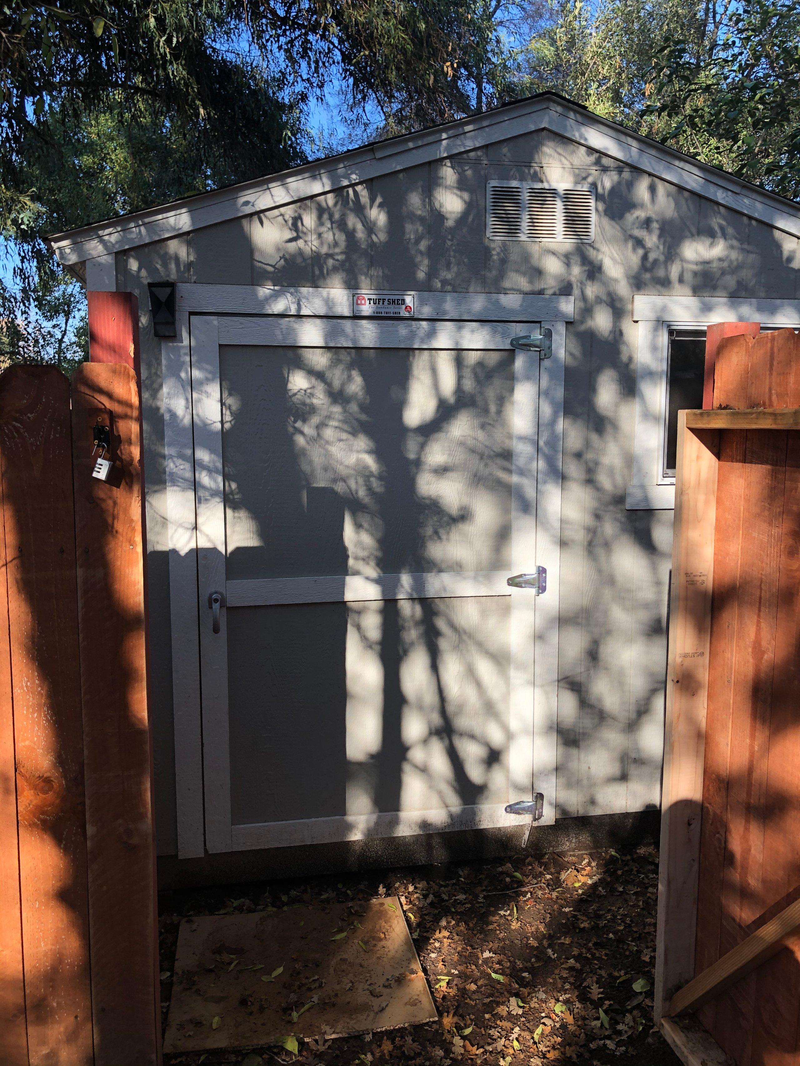8x10 Shed self storage unit