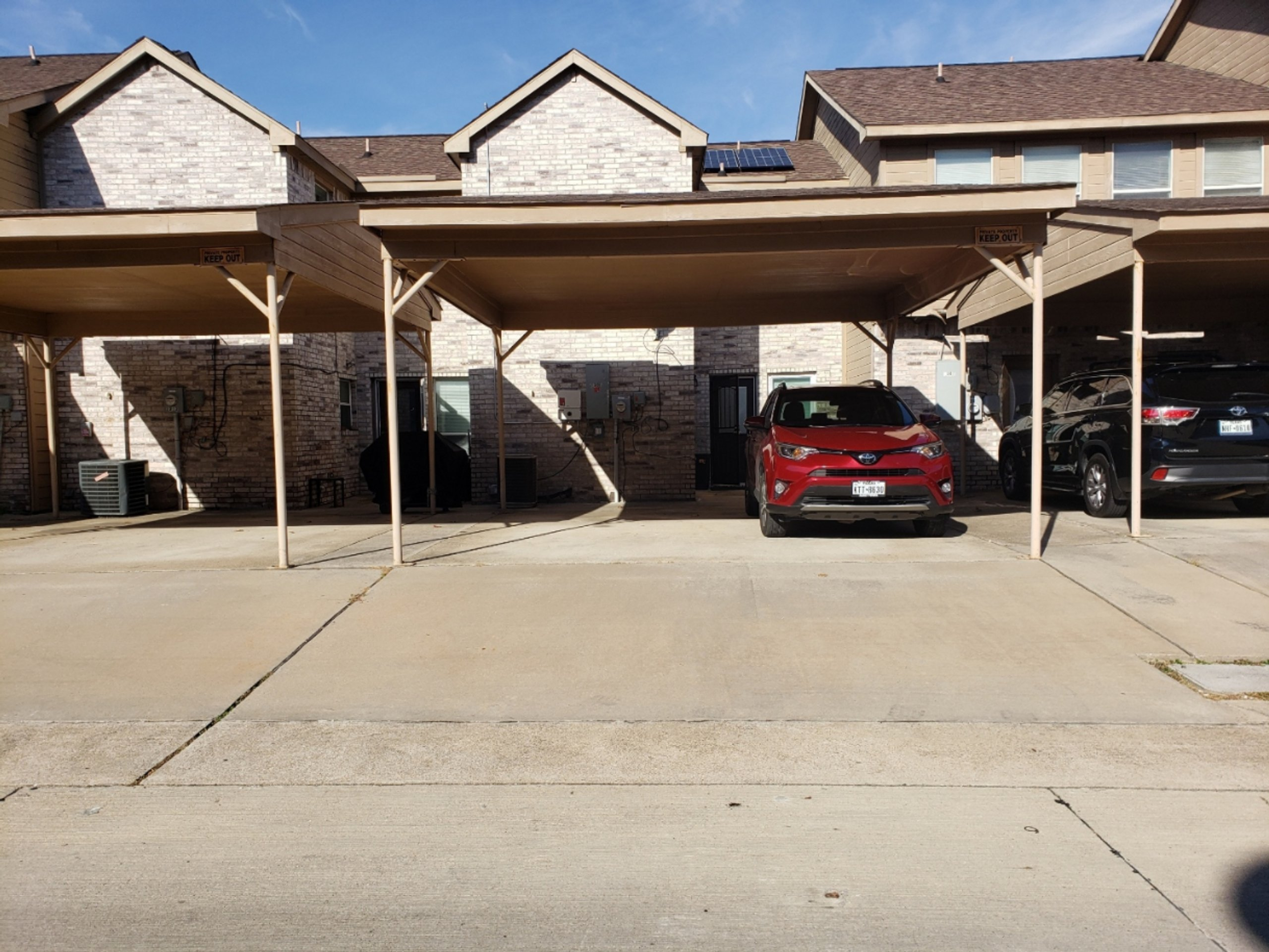 20x20 Carport self storage unit