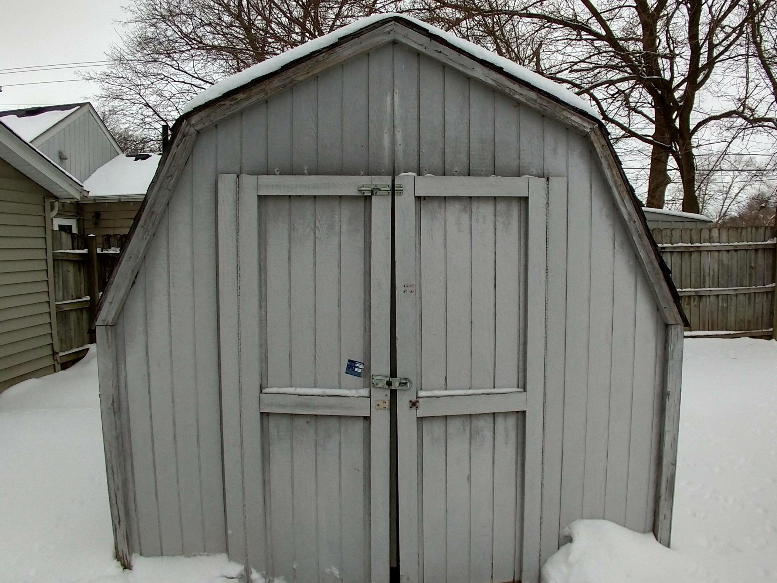 8x8 Shed self storage unit