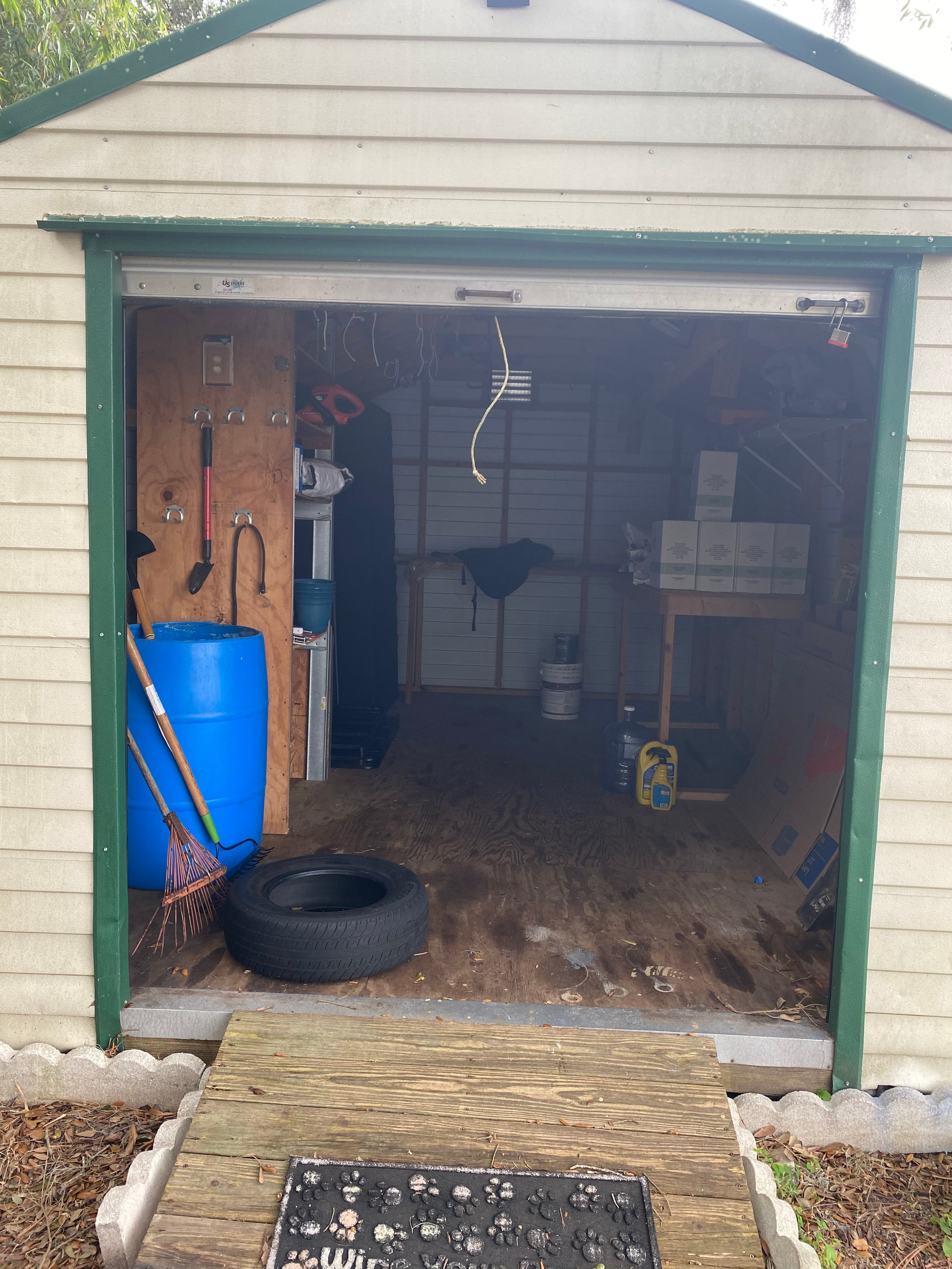 9x8 Shed self storage unit