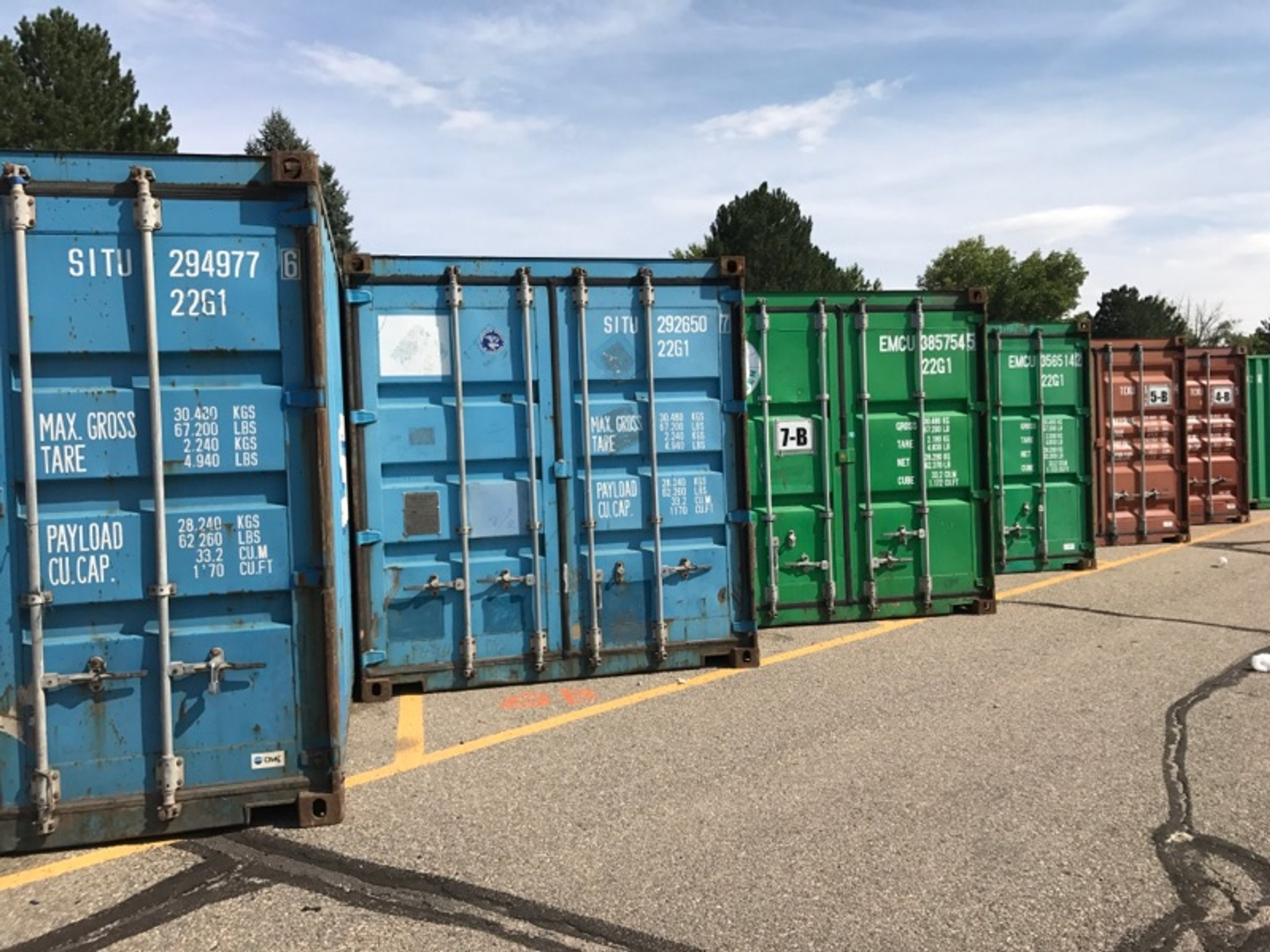 25x10 Parking Lot self storage unit