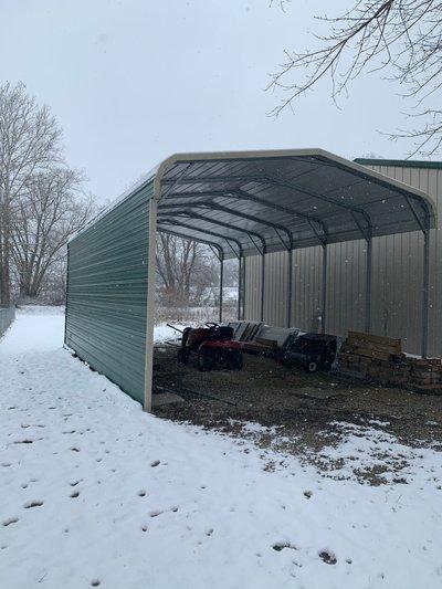 27x17 Carport self storage unit