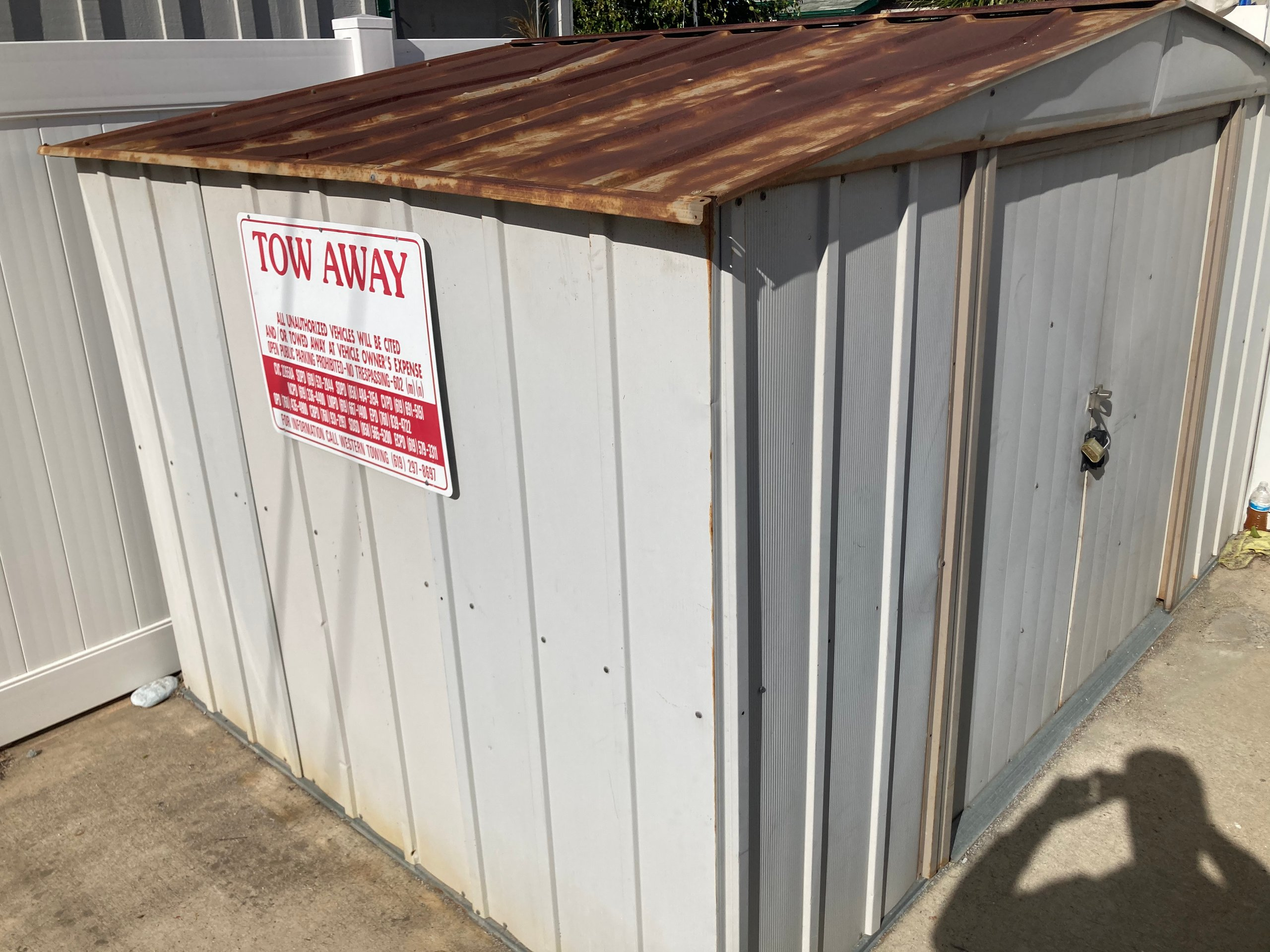 6x9 Shed self storage unit