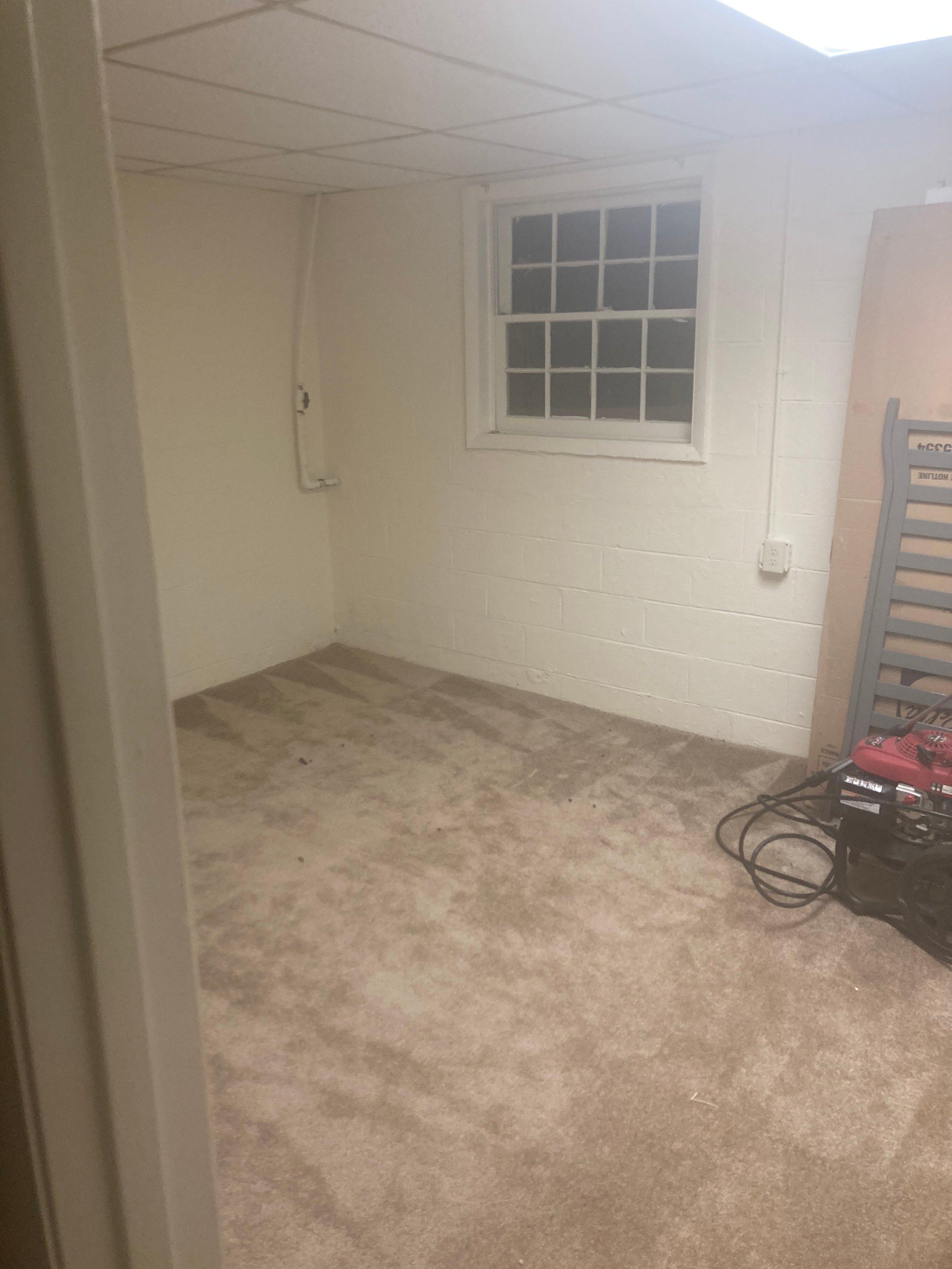 12x18 Basement self storage unit