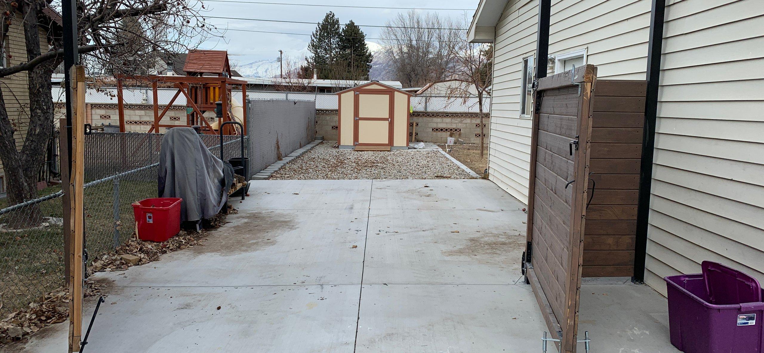 42x15 Driveway self storage unit