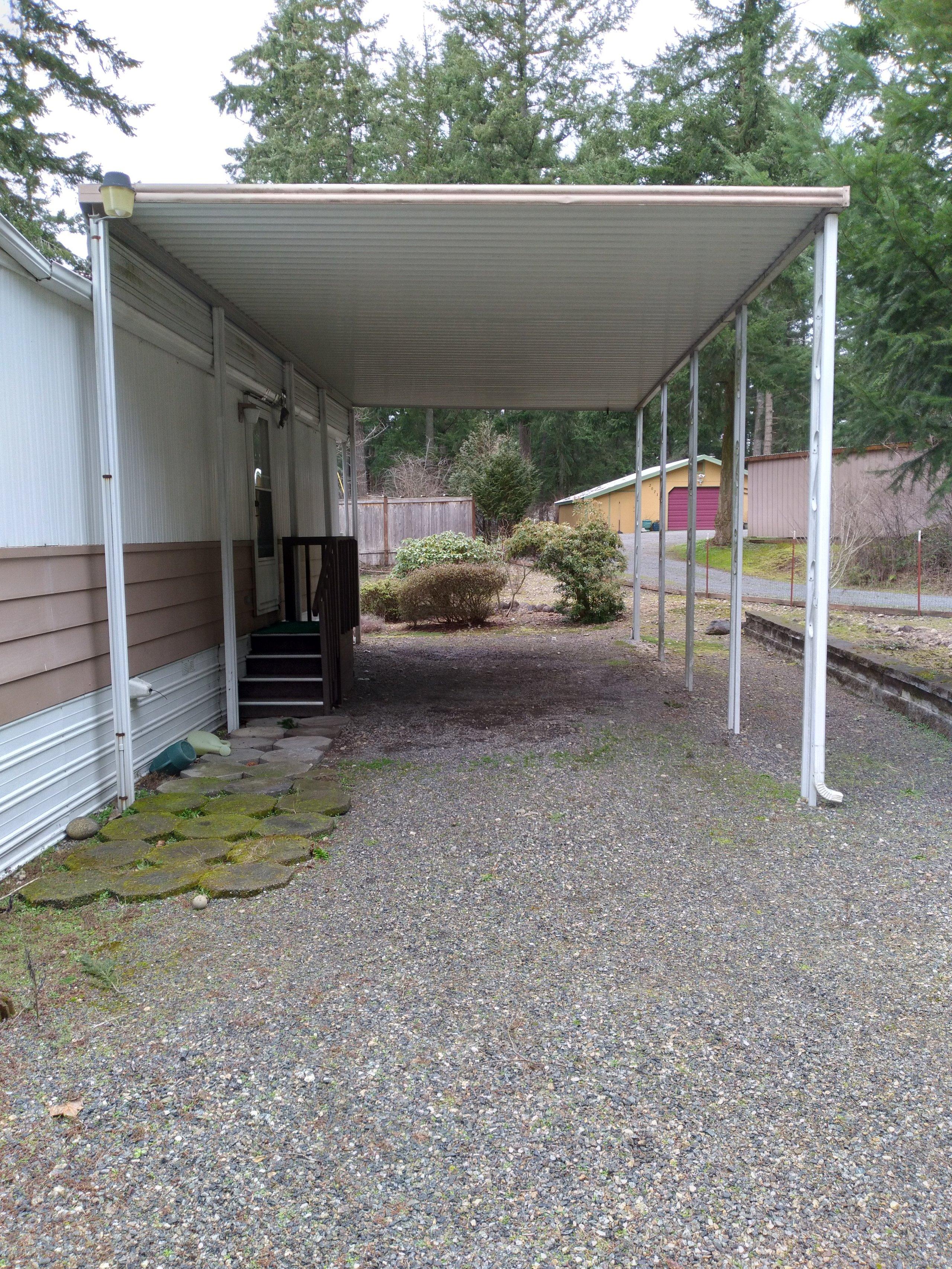 20x10 Carport self storage unit