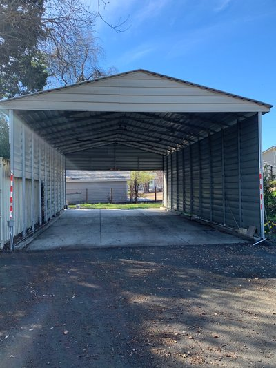 50x22 Carport self storage unit