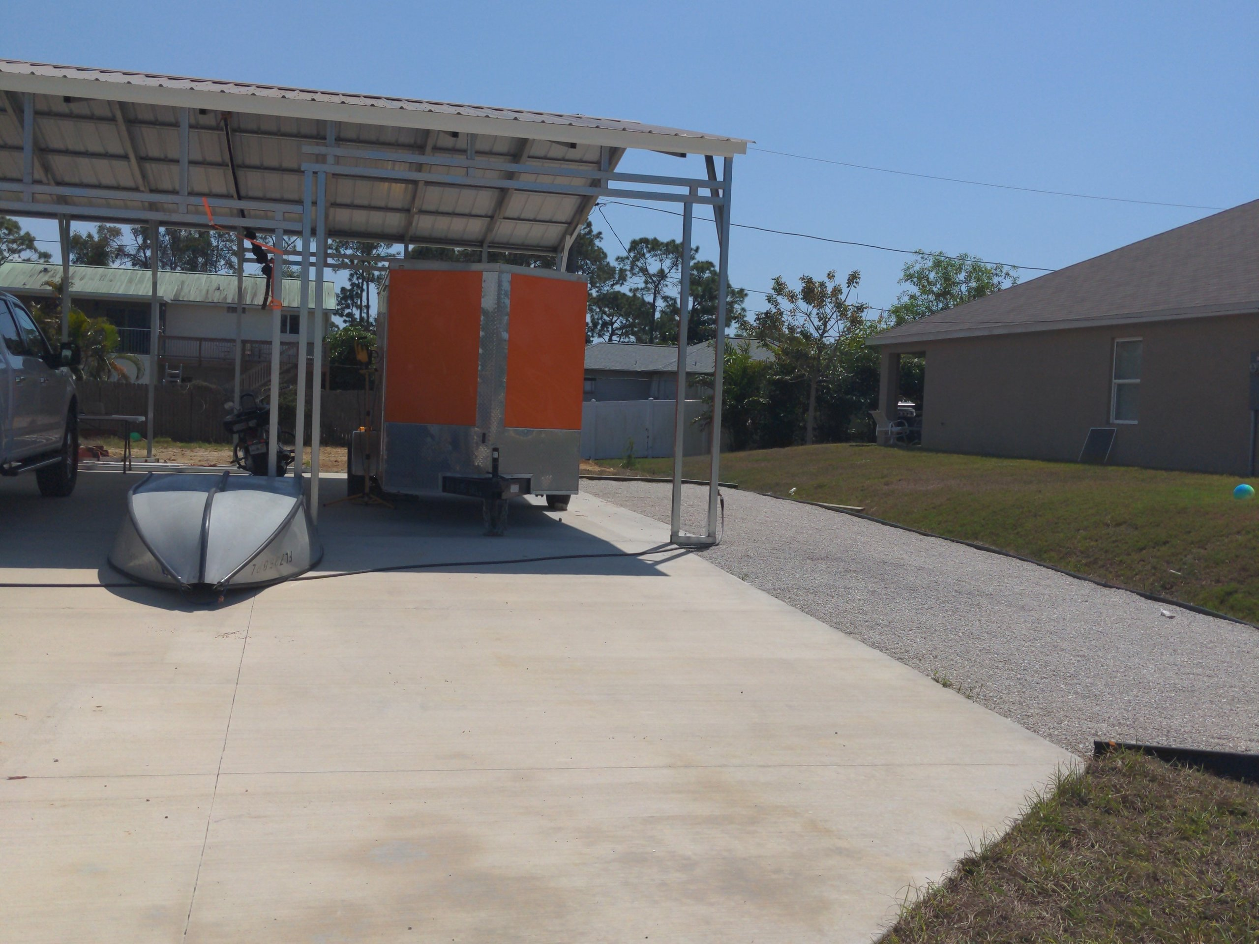 28x10 Carport self storage unit