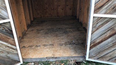 12x8 Shed self storage unit