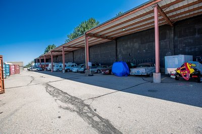 25x10 Carport self storage unit