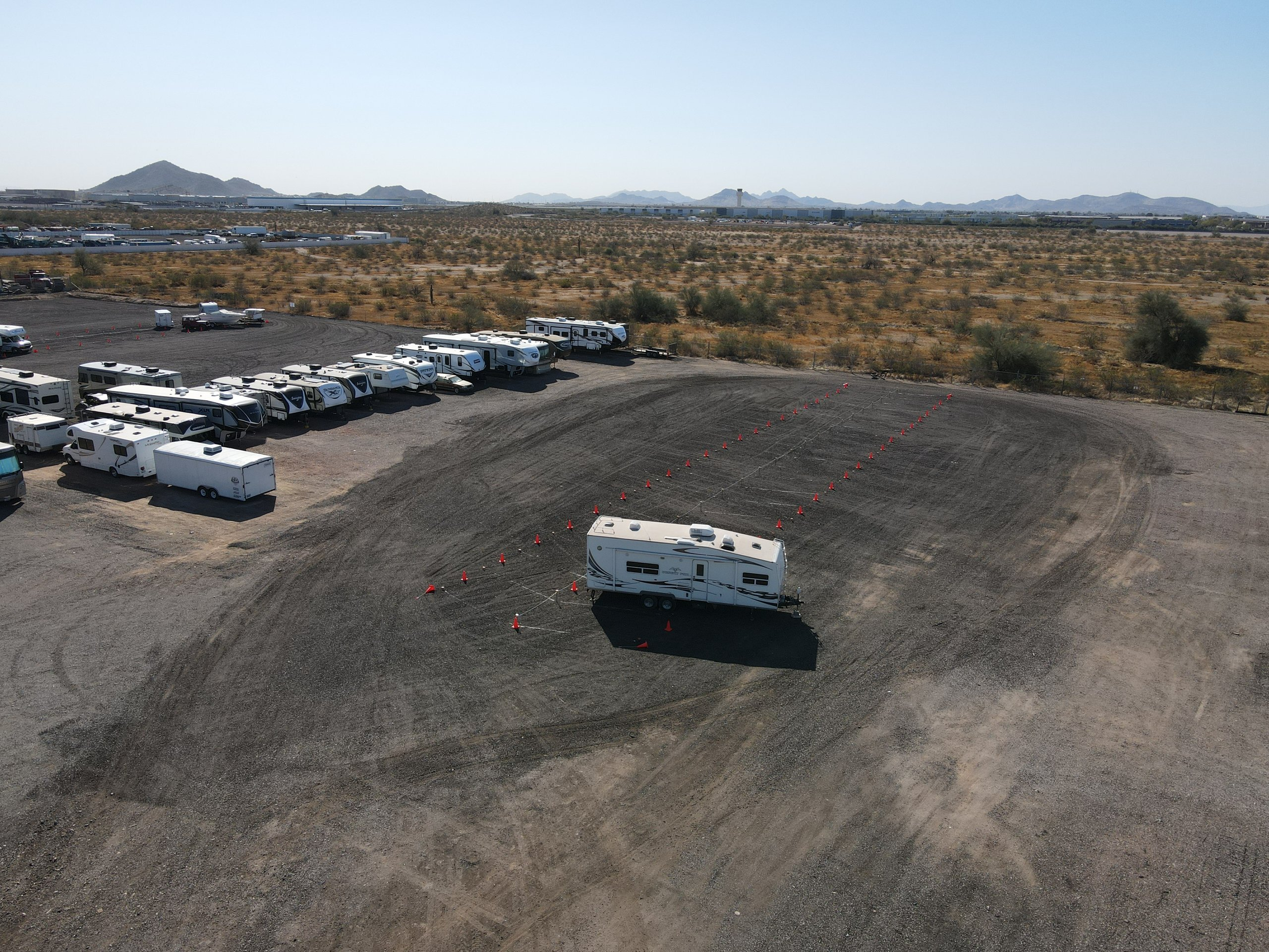 45x12 Unpaved Lot self storage unit